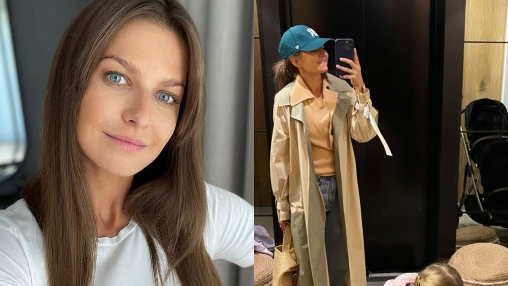 Anna Lewandowska poses with Clara in the mirror and introduces more fragments of her apartment