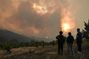 Greece fires threaten an environmental disaster.  They sound the alarm