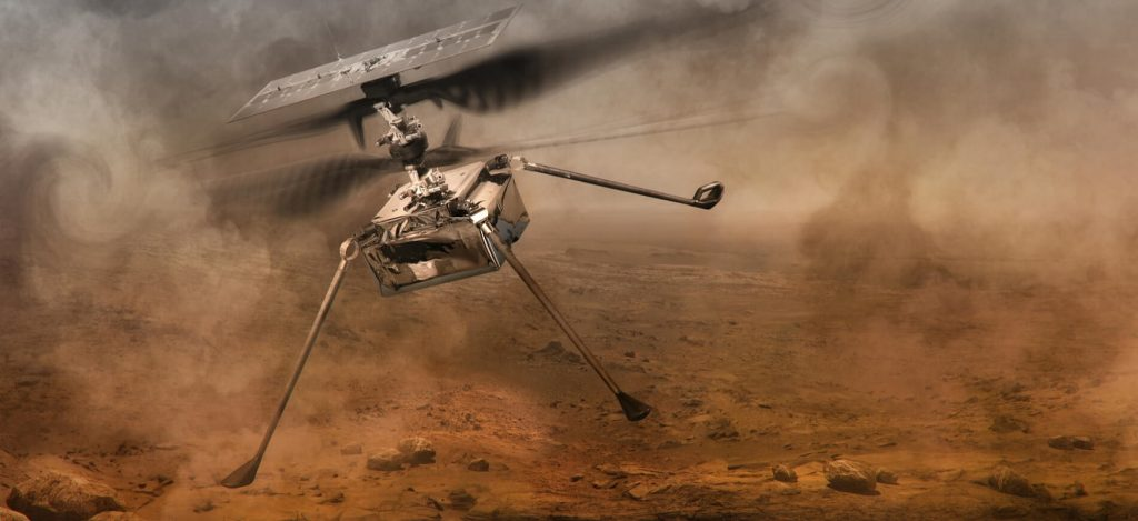 An innovative helicopter faces a problem on its sixth flight to Mars
