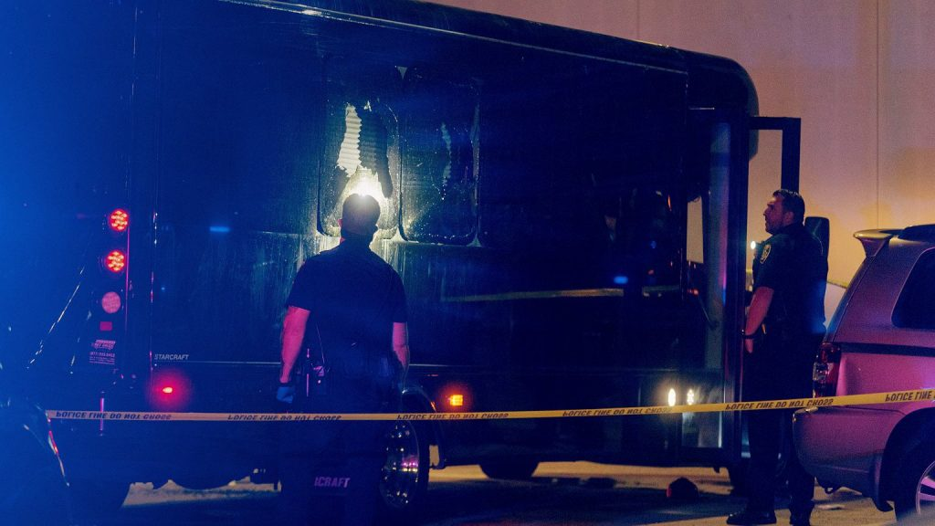 """California.  The attackers shot the """"party bus"""".  Two teenagers died.  """"It will not be a coincidence"""" 