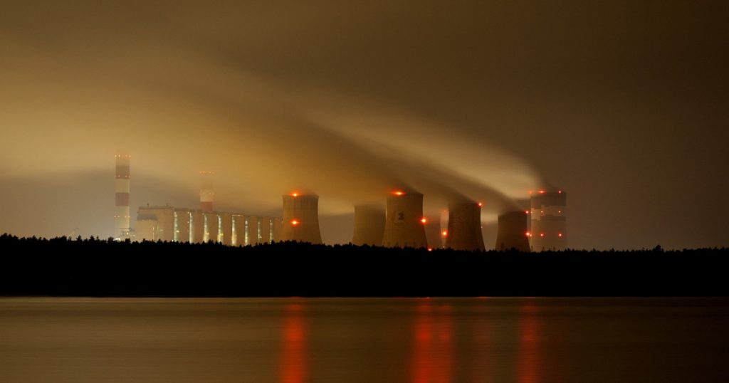 The Bełchatów power plant is practically idle.  Poland was saved by imports from its neighbors