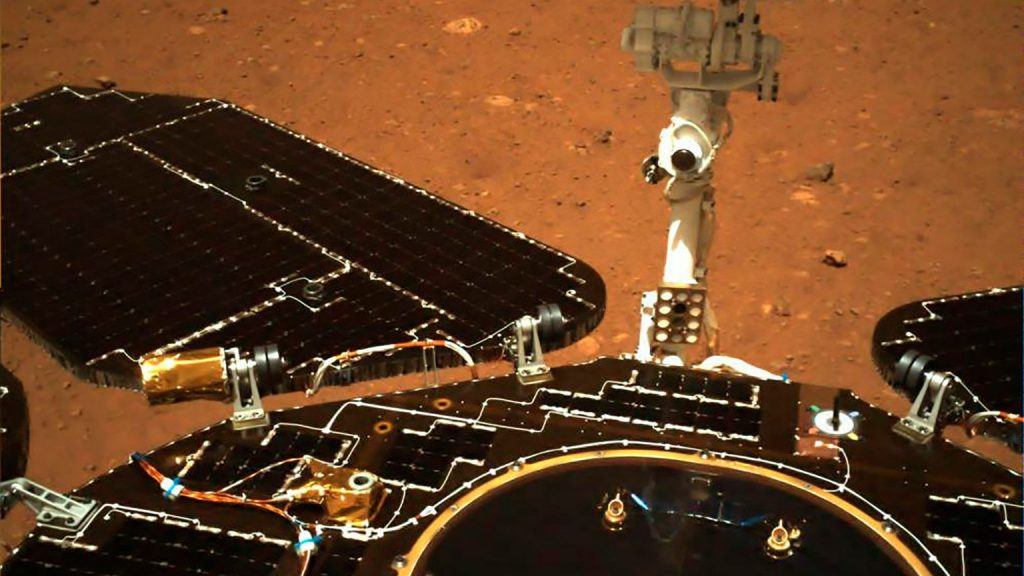 The Chinese Azik has reached Mars.  Zhurong sends the first pictures from the expedition