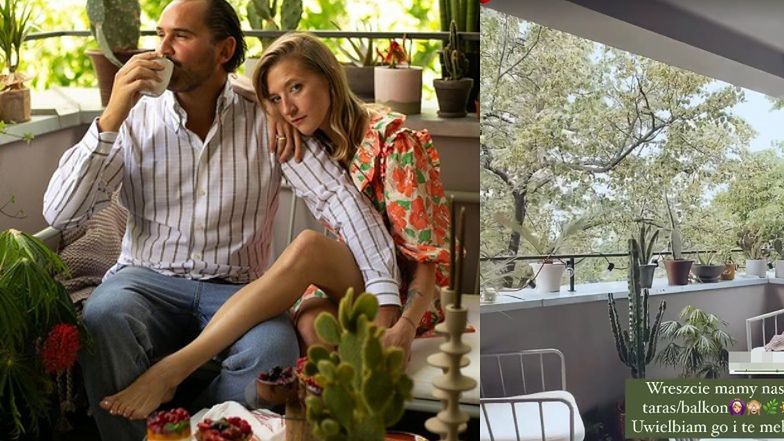 Lara Gesler boasts a newly decorated balcony: 'I've always wanted to have such an oasis' (PHOTOS)
