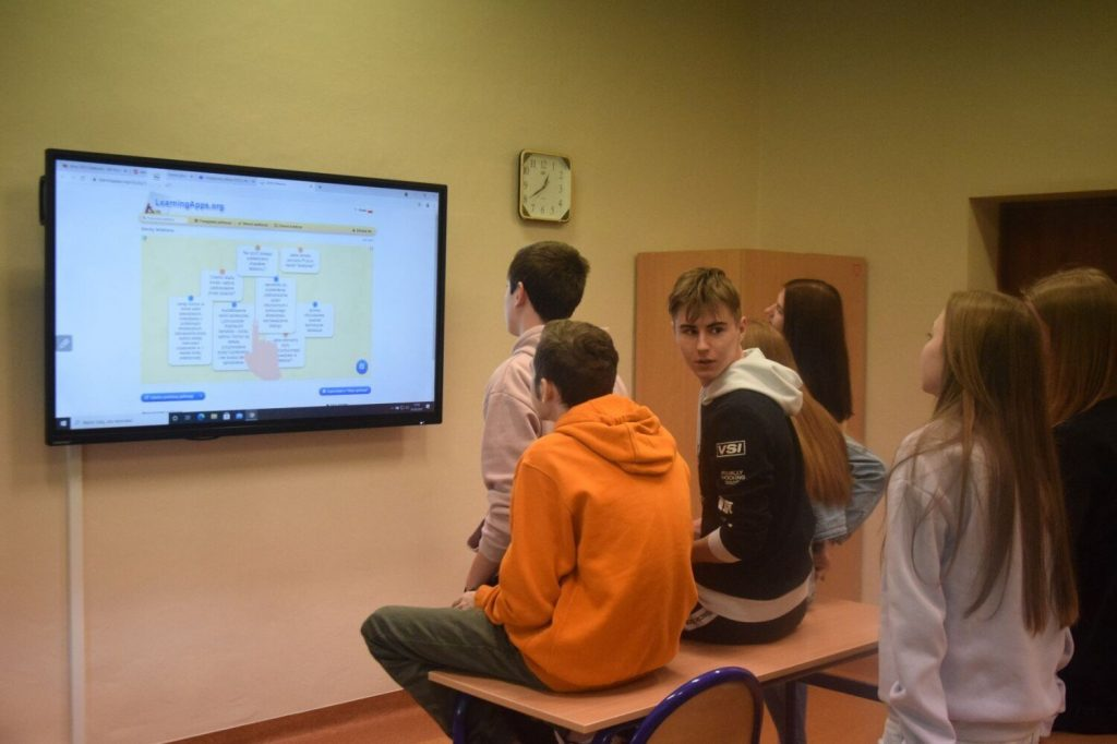 Learning using new technologies.  High school teachers from Nowy Dwór participated in a national project