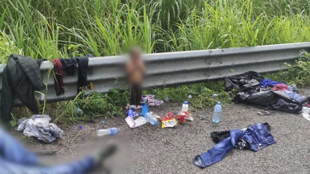 Mexico.  A two-year-old boy was found next to a truck carrying migrants