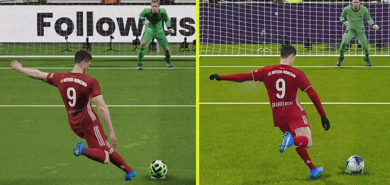 PES 2022 in the first comparison with PES 2021. Watch the big differences in production