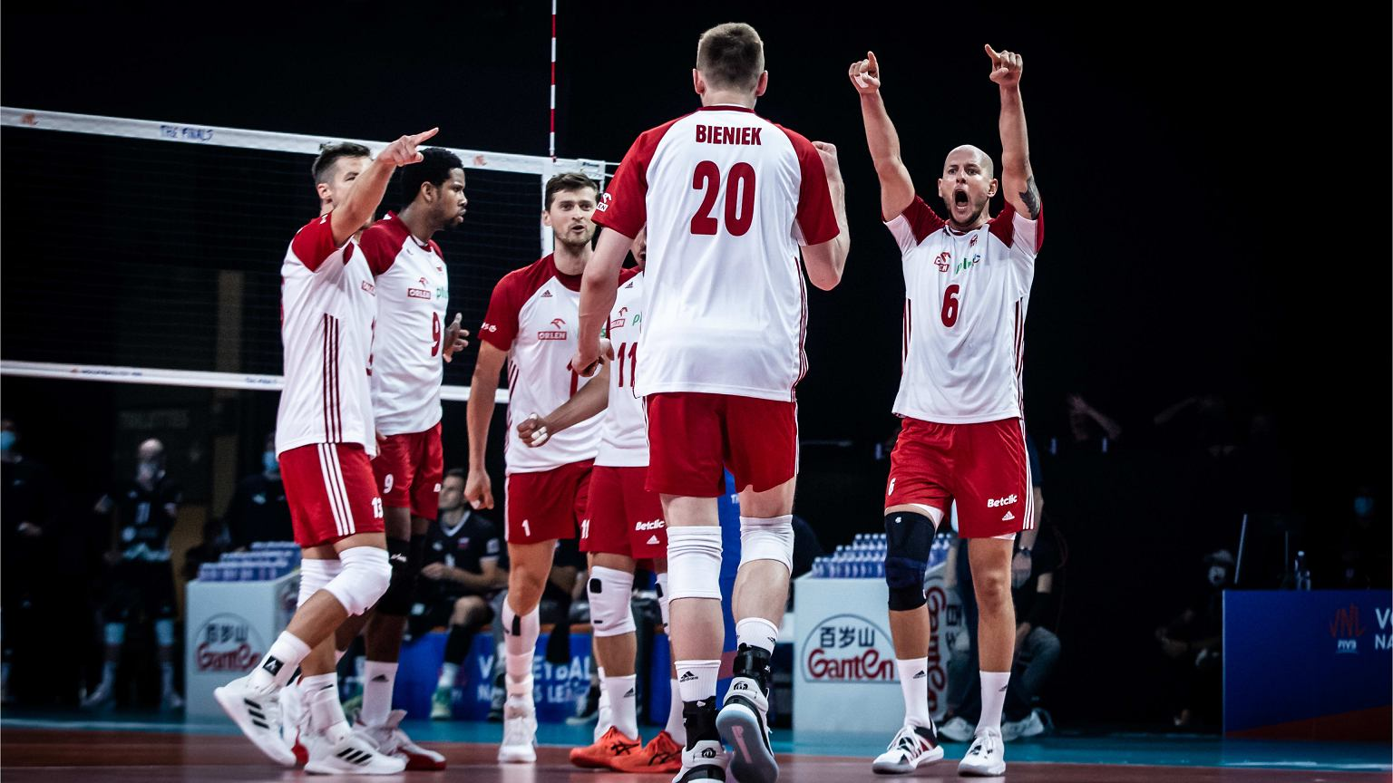 Poland lost to France 2:3 in the League of Nations volleyball match.