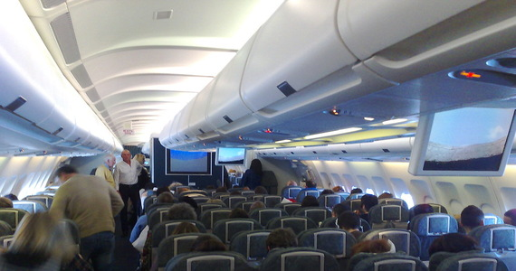 Plane brawl.  They had to use duct tape
