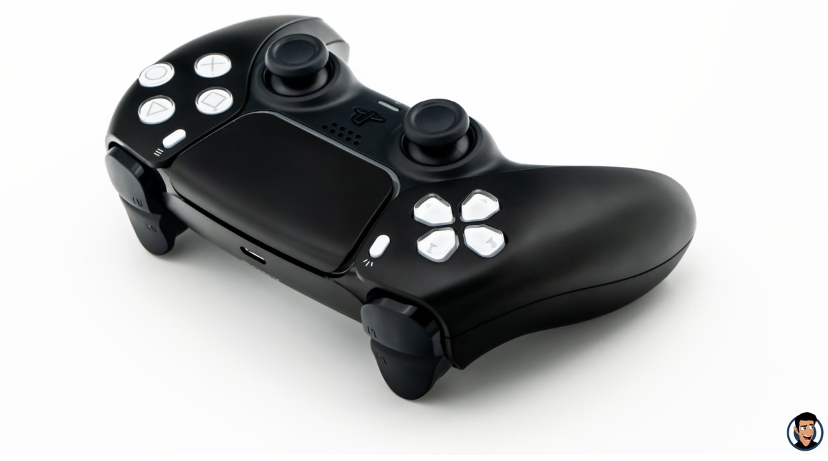 DualSense - Black and White Buttons - 2