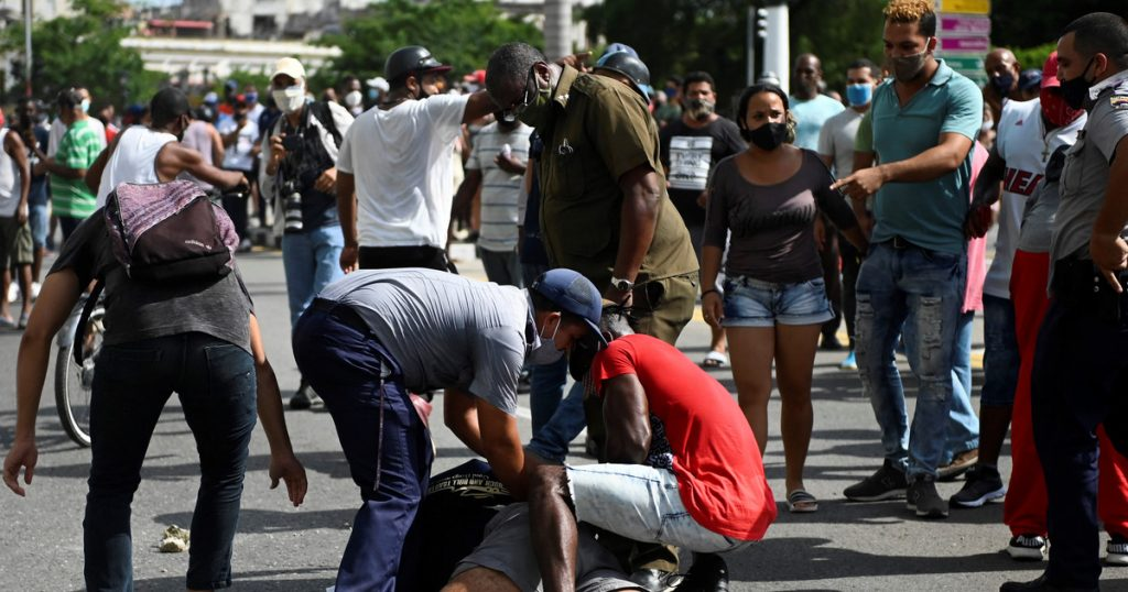 Cuba.  Anti-government protests erupted in several cities