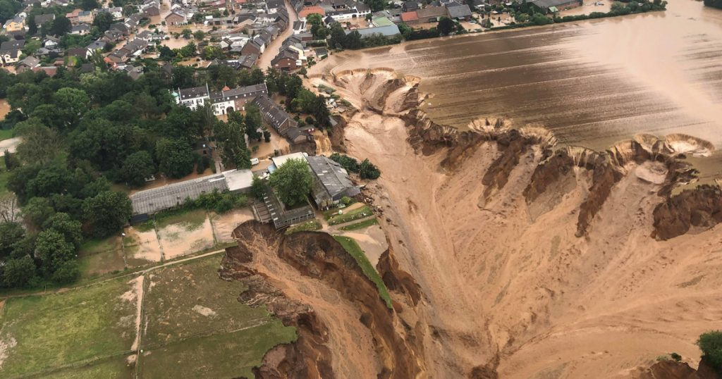 Germany: massive landslide caused by floods.  The picture says a lot