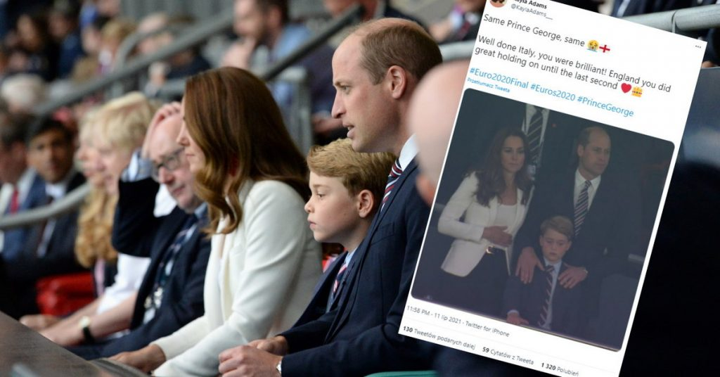 Italy - England: a princely couple with their son in the stands.  Their reactions a sensation |  Euro 2020