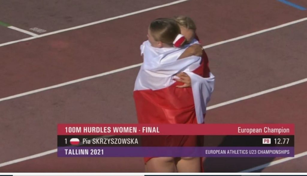 Pia Skrzyszowska with the MME Gold Medal!  Polish revelation achieved an excellent result!  Athletics