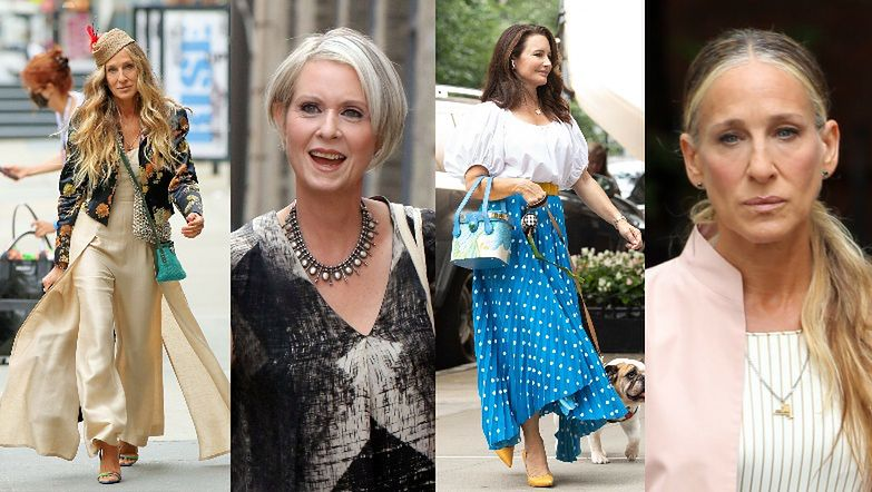 """Sarah Jessica Parker, Cynthia Nixon and Kristen Davis added elegance to the """"And Just Like That"""" collection.  successful method?  (photo)"""