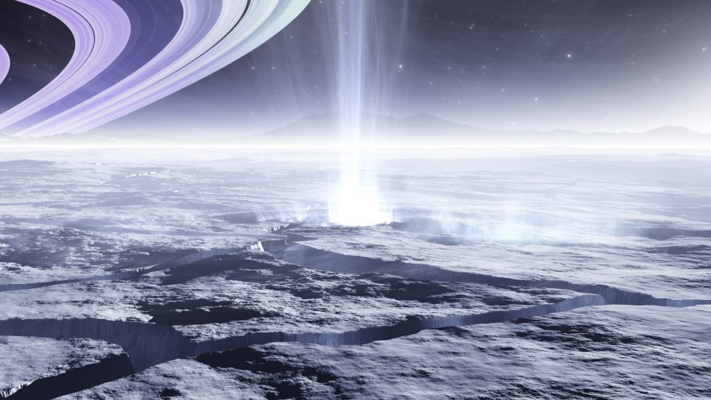 Saturn's moon  A surprising discovery under a thick layer of Enceladus ice