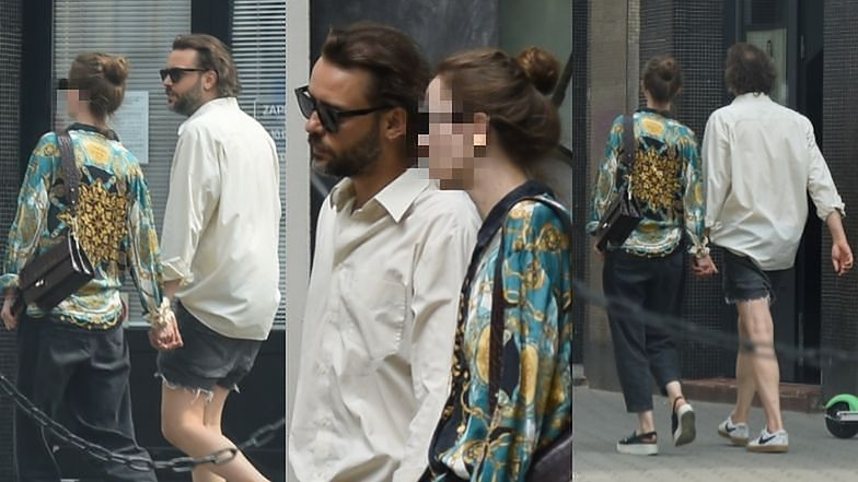 Tomasz Makovsky and his girlfriend roaming in Warsaw holding each other's hands (photos)
