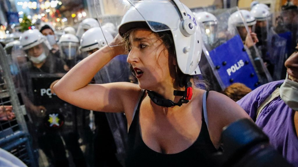 """Turkey formally withdrew from the Istanbul Agreement.  Street protests.  """"They maim, they kill…"""" 