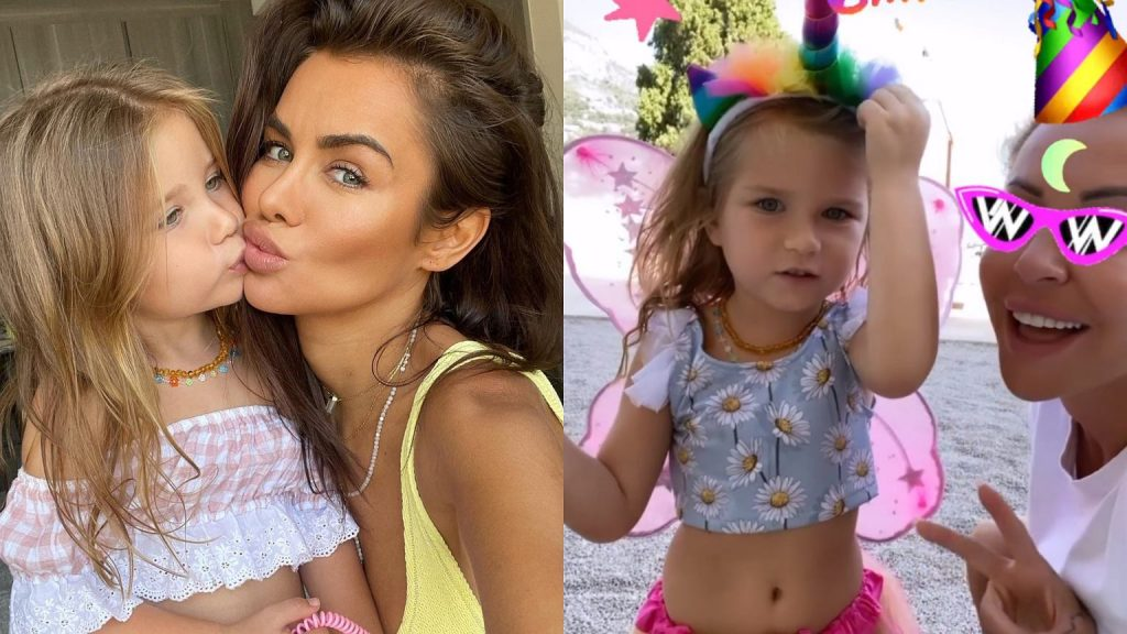 Natalia Siwick celebrates her daughter's fourth birthday.  There is gourmet dinner, swimming pool, Monte Carlo and Blanca Lipinska