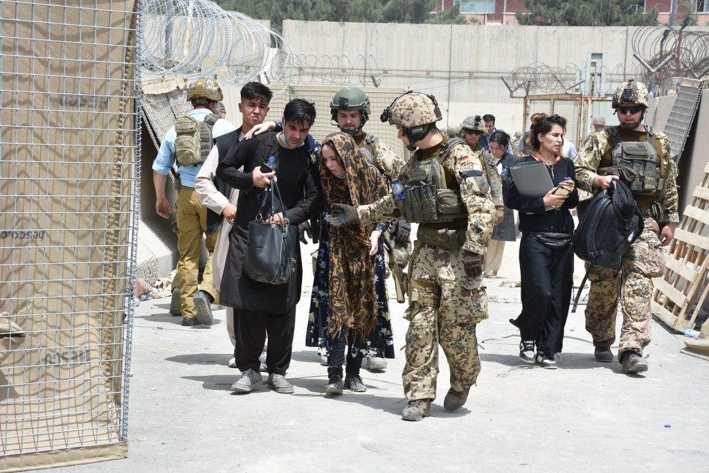 """The Afghan Taliban are critical of the United States.  """"Anarchy rules at the airport"""""""