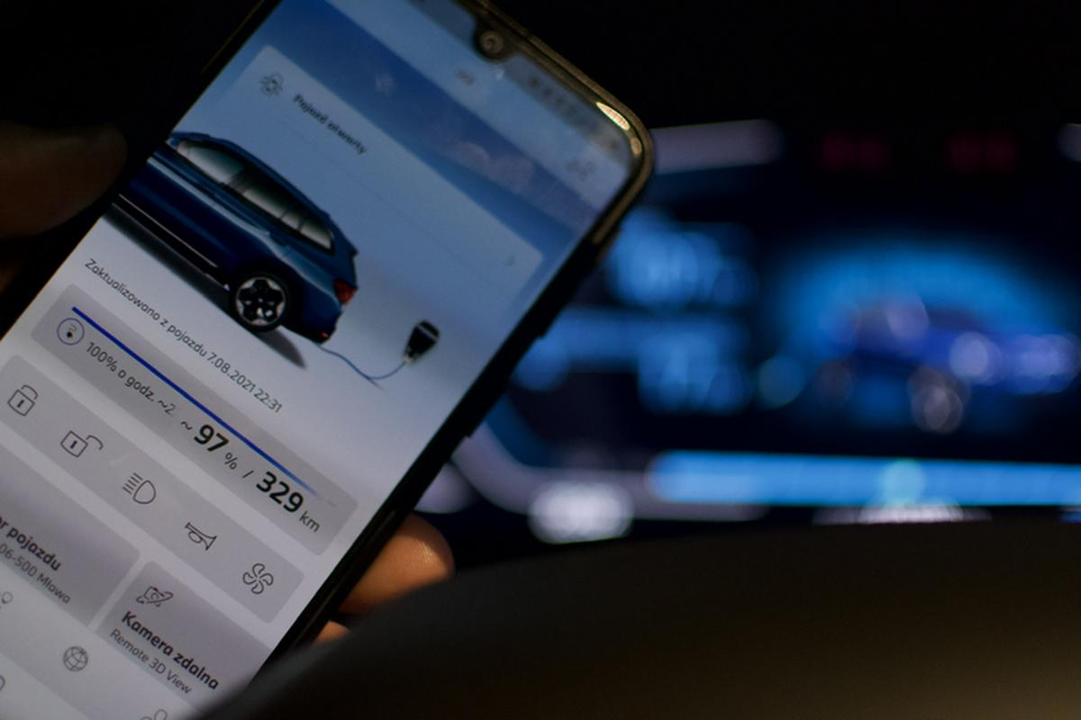 By leaving the car with the charger, you can check the current charge level in the My BMW app.  It also allows you to remotely lock/unlock the central locking, sound a horn or set the parking air conditioning to the time of departure.
