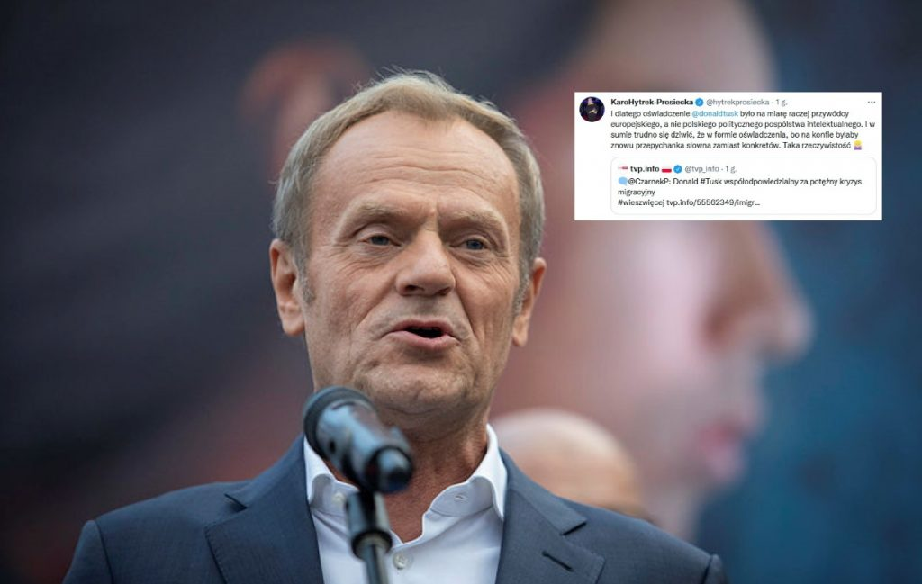 Former TVN journalist defends Tusk.  A wave of comments