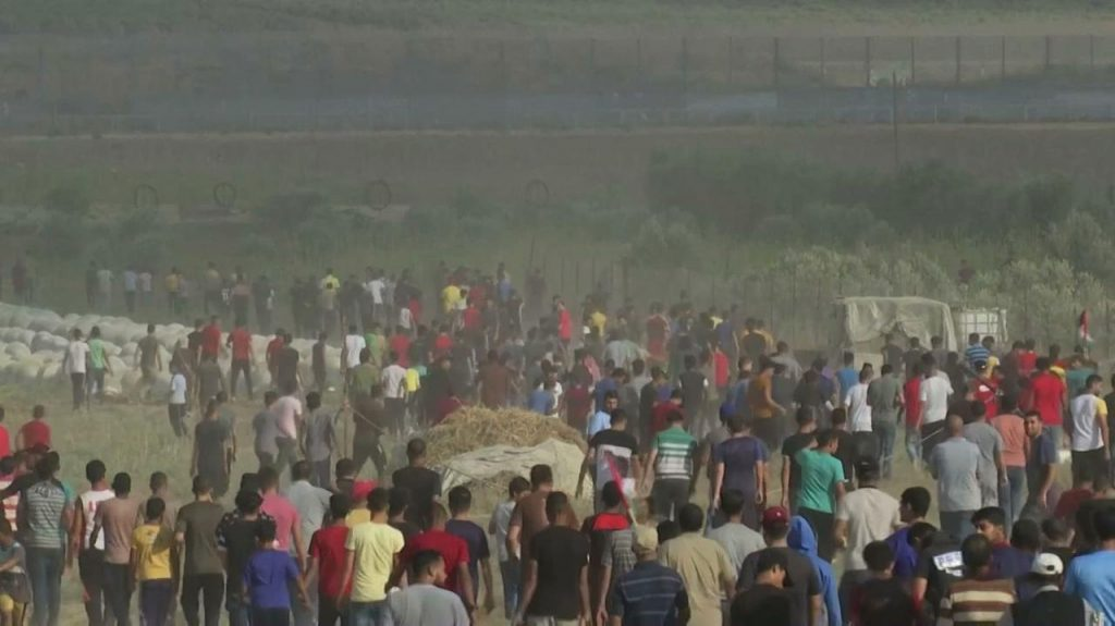 Gaza strip.  Clashes with the occupying forces.  They were badly injured, a 13-year-old boy was shot in the head