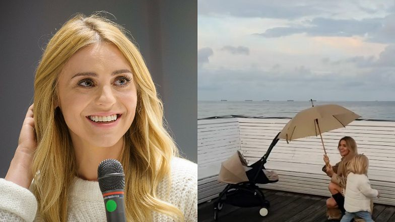 """""""Modest"""" Kasia Tusk walks along the pier of Sopot with a stroller enough for almost 3000 (photos)"""