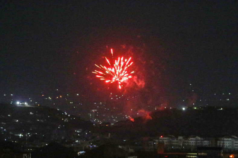 After the last US plane took off from Kabul airport on August 31, 2021, festive shots lit up part of the night sky.