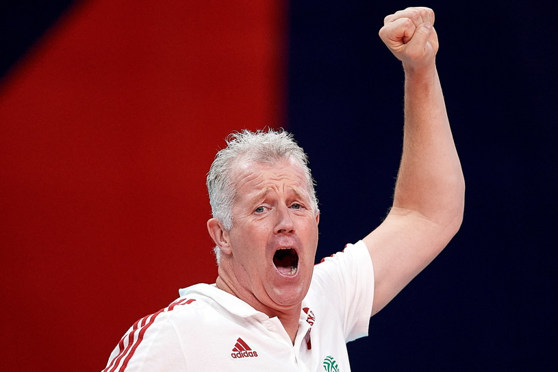 Vital Heinen during the European Volleyball Players Championship quarter-final match with Russia / Adam Warsaw / PAP