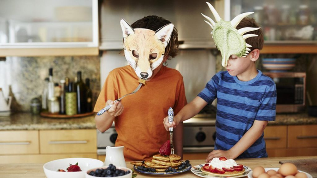 Breakfast pancakes for the kids.  A recipe for a good start to the day