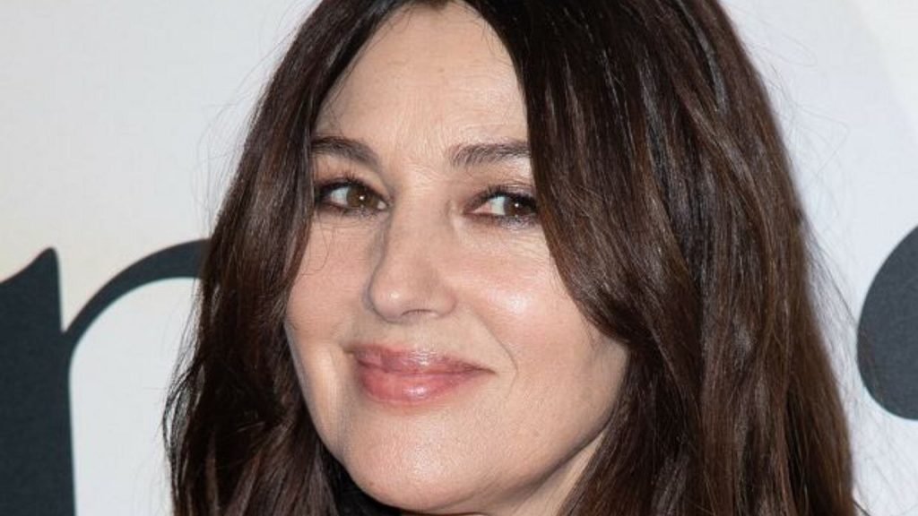 Monica Bellucci impresses at the Venice Film Festival.  She chose coquettish accessories to match the strict suit