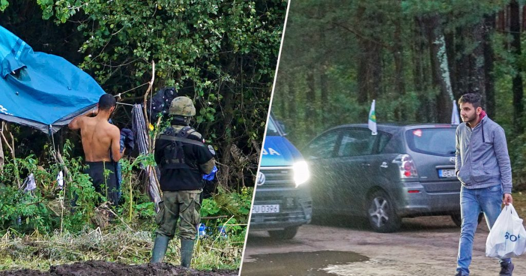 Rudniki in Lithuania.  This is the case in the immigration camp.  The villagers set up a militia.  reportage