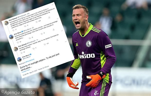 Storm after the movie Boruc.  The Legia goalkeeper called the journalist.  Football 'would cool my life'